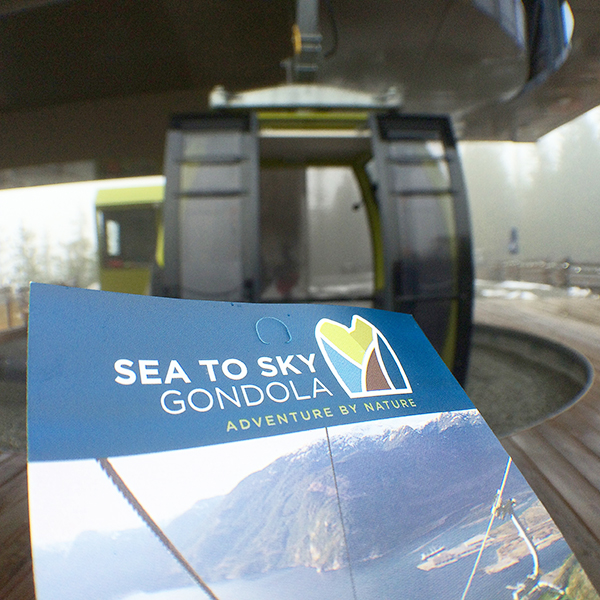 Riding the gondola!