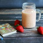 Strawberry Peach Smoothie (vegan)
