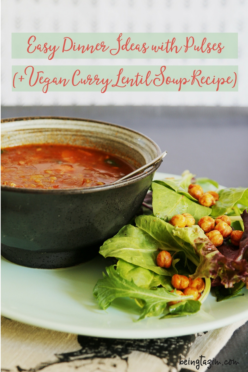 Easy Dinner Ideas with Pulses and Vegan Curry Lentil Soup Recipe