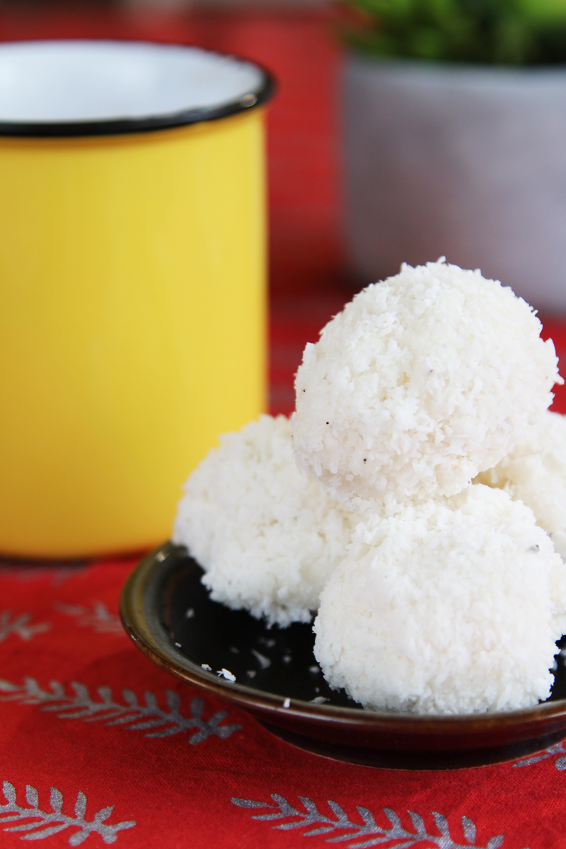 vegan coconut ladoo