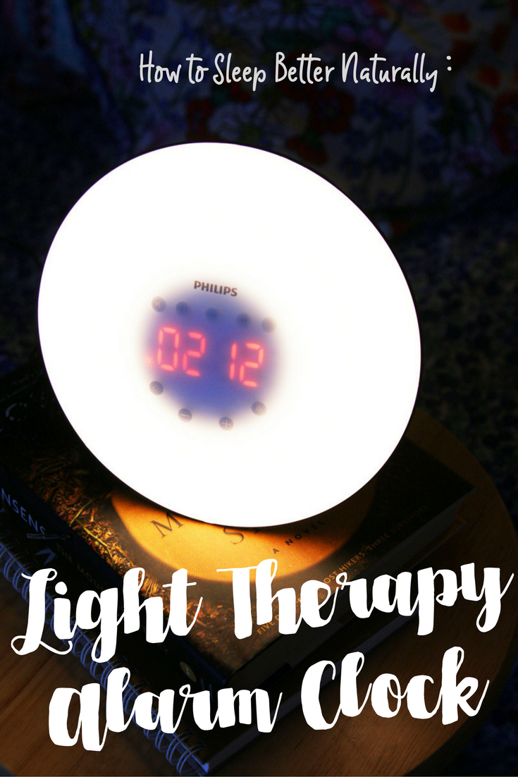 Light therapy alarm clock