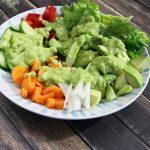 Quick Fresh Vegan Avocado Salad Dressing