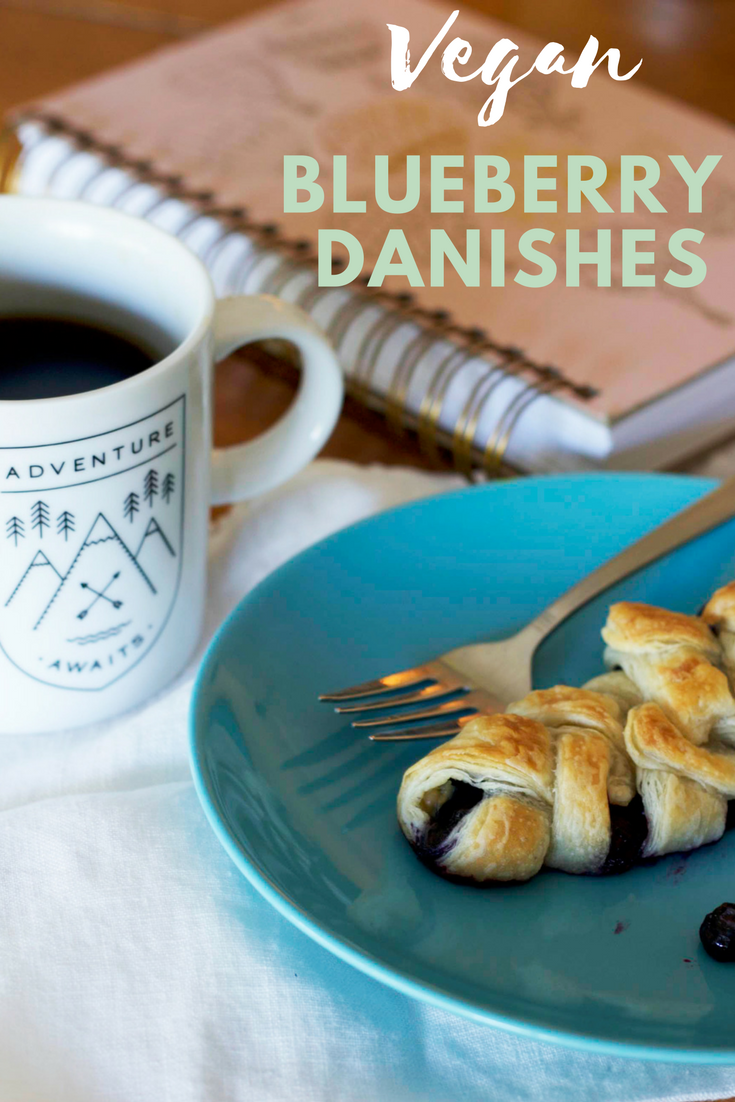 Vegan blueberry danishes