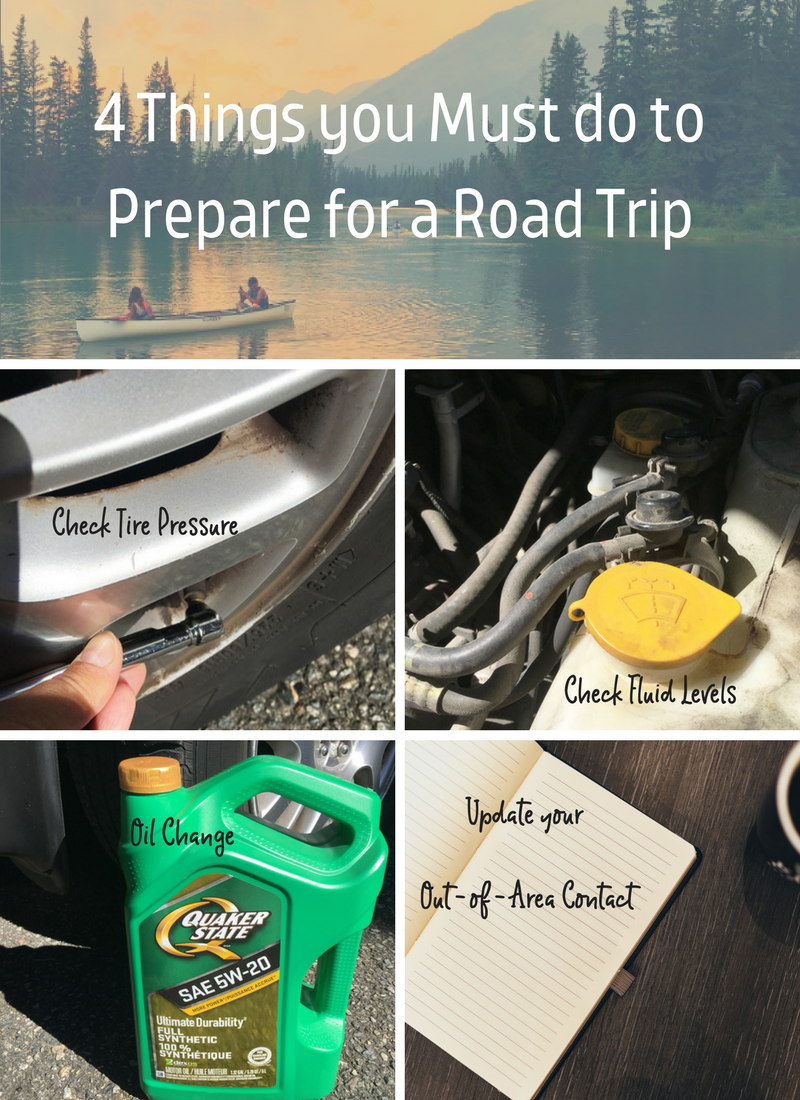 4 Things you Must do to Prepare for a Road Trip
