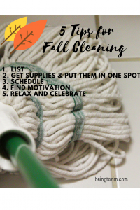 5 Tips for Fall Cleaning