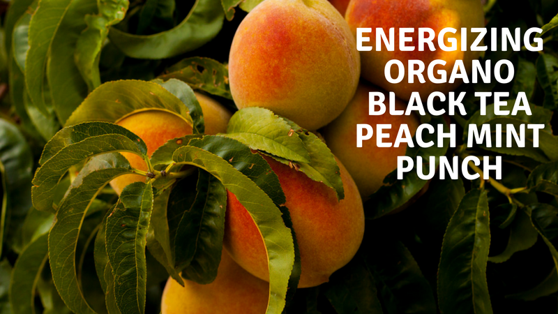 Energizing Organo Black Tea Peach Mint Punch