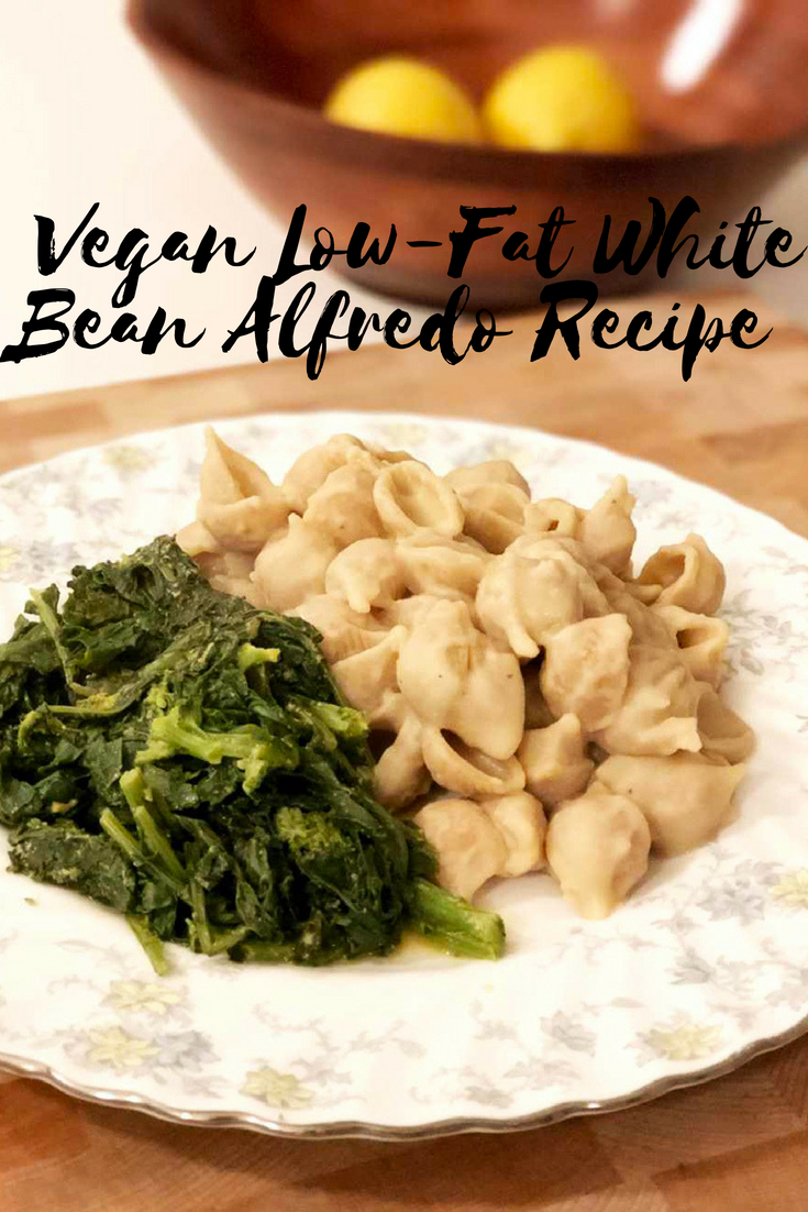 This meal comes together so quickly! #Vegan Low-Fat White Bean Alfredo Recipe Give it a try: