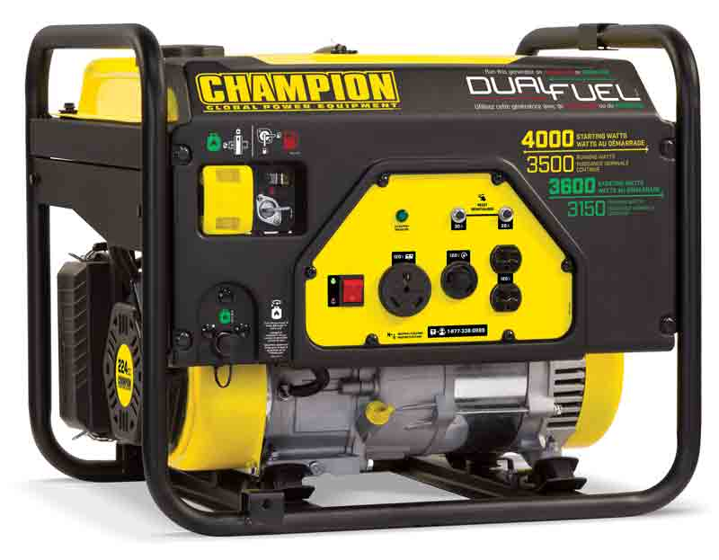 Champion 3500-Watt Dual Fuel Generator Review