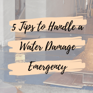 water damage emergency
